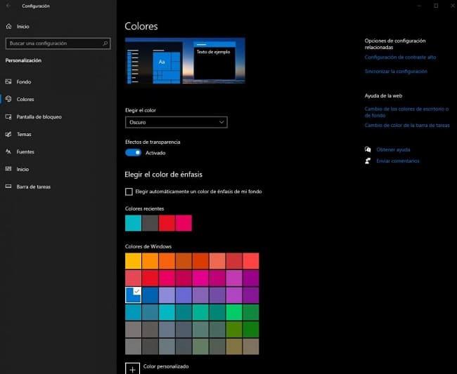 Como personalizar o menu iniciar do Windows 10 - modo escuro