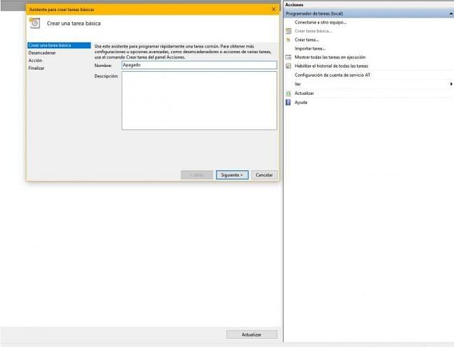como programar o desligamento do pc windows 10